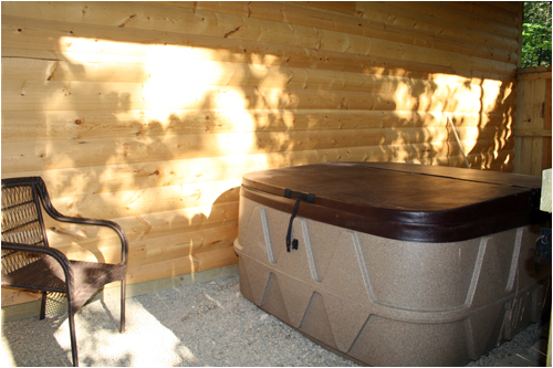 tub house pretty a outside much hot is pin with winter tubs cabins this in my missouri log