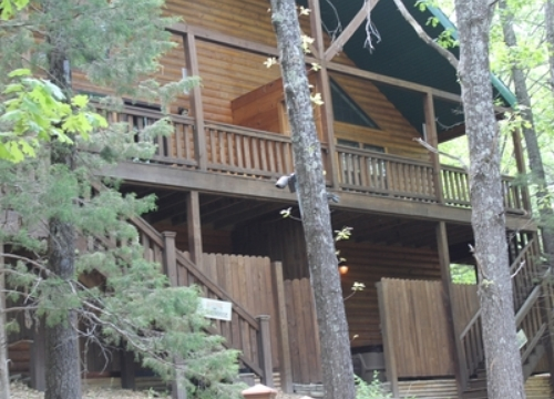 Branson bed and breakfast cabins for Hidden falls cabins branson mo